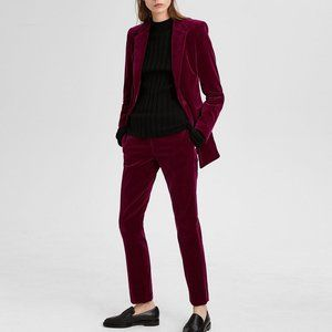 Theory Power Stretch Velvet Tailored Blazer + Pant